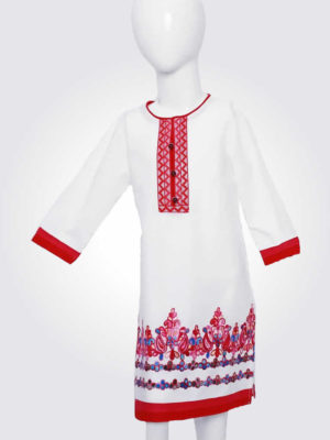 White Tunic Embroidered Top
