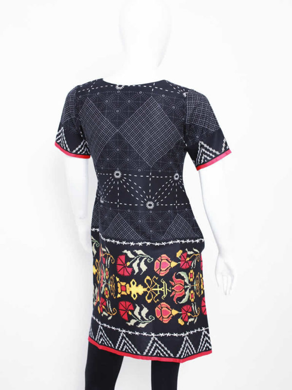 Black Modern Pattern Dress