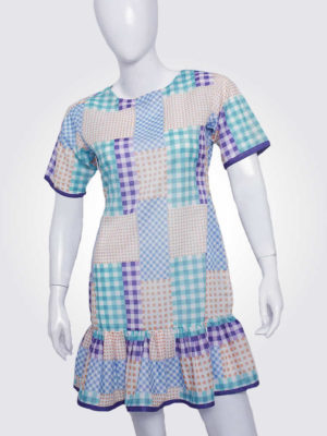 Colorful Comfortable Gingham Dress