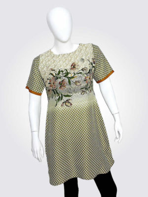 Earthen Floral Tunic Dress