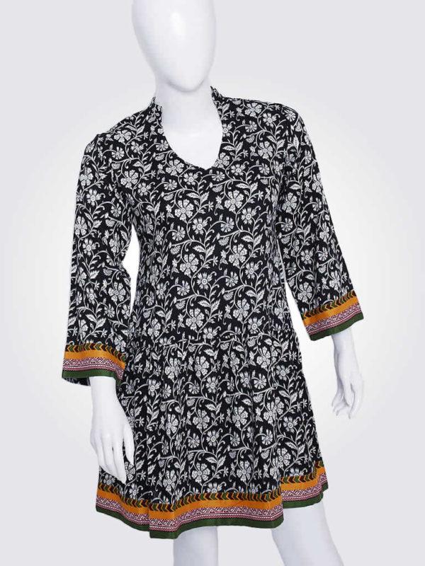 Elegant Black Floral Dress