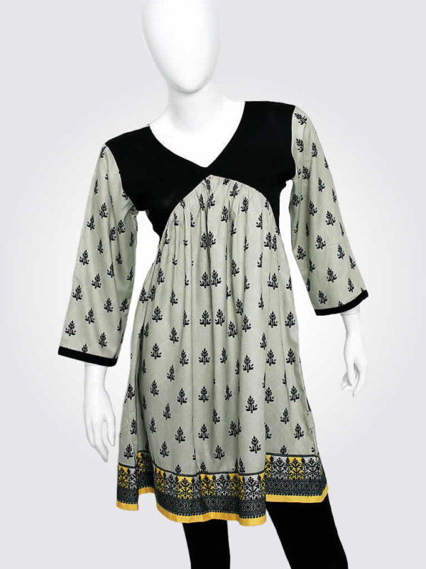 Taupe Tribal Motif Dress