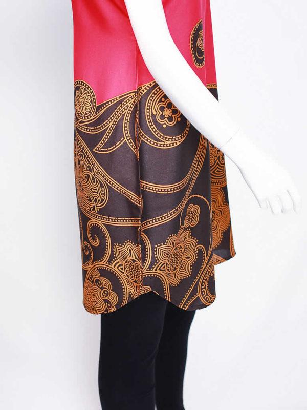 Fuchsia Black Gold Dress