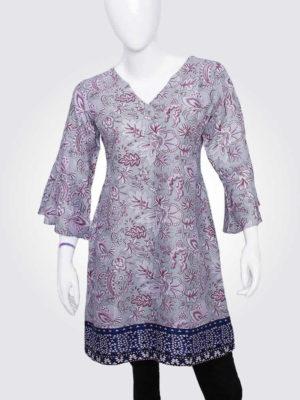 Mauve Floral Print Dress