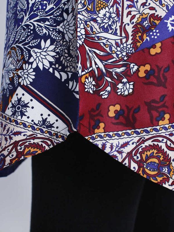 Multicolored Paisley Print Dress