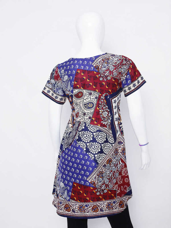 Multicolored Paisley Print Dress
