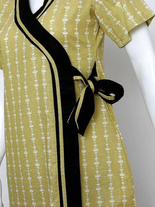 Olive Green Wrap Dress
