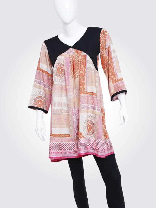Pink Patchwork Babydoll Dress