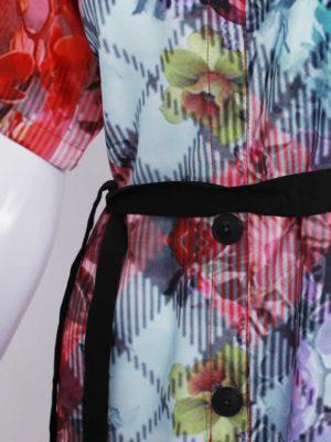 Prismatic Print Belted Dress