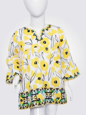 Sunny Yellow Poppy Top