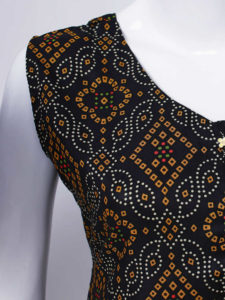 Yellow Diamond Black Dress