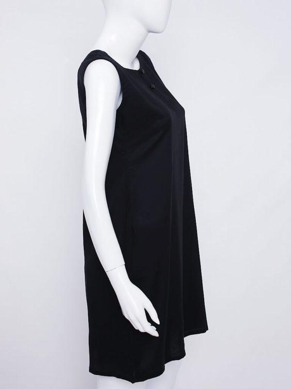 Henley Essential Black Dress